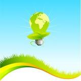 Groen ecomalplaatje Stock Fotografie