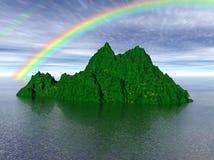 Groen Eiland stock illustratie