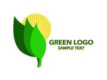Groen embleem royalty-vrije illustratie