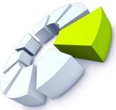Groen embleem Stock Foto