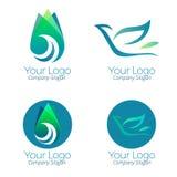 Groen embleem en pictogrammenvector Royalty-vrije Stock Fotografie