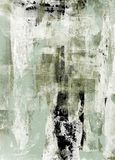 Groen en Beige Abstract Art Painting stock fotografie