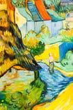 Groen en blauw Schilderen van de kunst Royalty-vrije Stock Afbeeldingen
