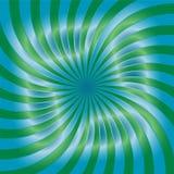 Groen en Blauw Spiralenpatroon Geschikt voor textiel, stof, verpakking en Web ontwerp Royalty-vrije Stock Afbeelding