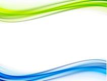 Groen en blauwe golven. Royalty-vrije Stock Afbeelding