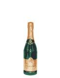 Groen en de Gouden Fles van Champagne Royalty-vrije Stock Afbeeldingen