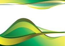 Groen en geel decoratief ontwerp Stock Afbeeldingen