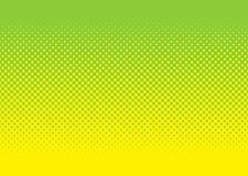 Groen en geel halftone patroon Stock Fotografie