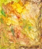 Groen en geel Schilderen van de kunst Stock Foto's