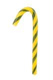 Groen en geel suikergoedsnoepje Stock Afbeeldingen