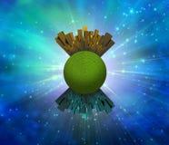 Groen en Gouden Royalty-vrije Stock Foto's
