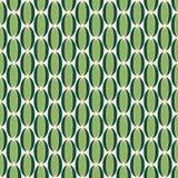 Groen en Gouden Retro Patroon Stock Fotografie