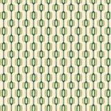 Groen en Gouden Retro Patroon Royalty-vrije Stock Afbeelding