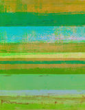 Groen en Oranje Abstract Art Painting Royalty-vrije Stock Foto