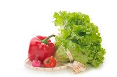 Groen en rood Stock Fotografie