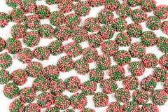 Groen en Rood bestrooit Suikergoed royalty-vrije stock afbeelding
