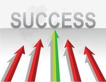 Groen-en-rood-pijlen Stock Afbeeldingen