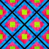 Groen en roze op een blauwe achtergrond van de veelhoeken Naadloos Geometrisch Patroon vector illustratie