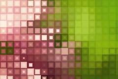 Groen en roze vierkant mozaïekpatroon Stock Fotografie