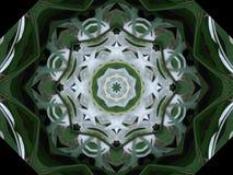 Groen en Wit vuurrad Royalty-vrije Stock Foto's