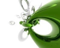 Groen en zilveren Stock Afbeelding