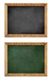 Groen en zwart schoolbord of bord Stock Afbeeldingen