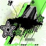 Groen en Zwart Stedelijk Ontwerp Stock Afbeeldingen