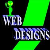 Groen en Zwart Webontwerp - Stock Illustratie