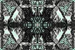 Groen en zwart weerspiegeld patroon stock illustratie