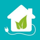 Groen energiepictogram Royalty-vrije Stock Foto's
