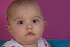 Groen eyed babymeisje Stock Foto