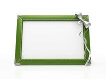 Groen fotoframe Stock Foto's