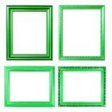 groen frame 4 op wit royalty-vrije stock afbeeldingen