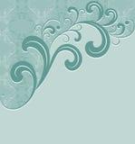 Groen frame met een naadloos patroon. Royalty-vrije Stock Foto