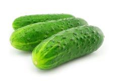 Groen geïsoleerdR komkommer plantaardig fruit royalty-vrije stock foto's