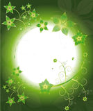 Groen geel de bloempatroon van het frame vector illustratie