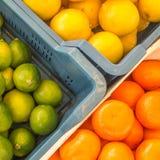 Groen, geel en oranje stock afbeeldingen