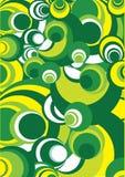 Groen-gele en witte cirkel royalty-vrije illustratie
