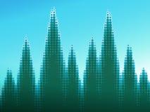 Groen gestippeld bos Stock Afbeeldingen