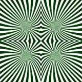 Groen gestreept symmetrisch straalpatroon Stock Afbeelding