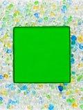 Groen glas vierkant frame Royalty-vrije Stock Foto's
