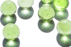 Groen glasmarmer royalty-vrije stock foto's