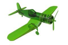 Groen glasstuk speelgoed vliegtuig royalty-vrije illustratie