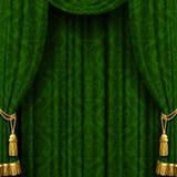 Groen gordijn Royalty-vrije Stock Afbeeldingen