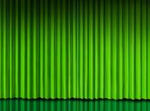 Groen gordijn op theaterstadium Royalty-vrije Stock Afbeelding