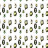 Groen Gouden Patroon Royalty-vrije Stock Foto's