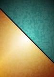 Groen-gouden vectorachtergrond Stock Afbeeldingen
