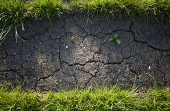 Groen gras en vuil royalty-vrije stock foto's