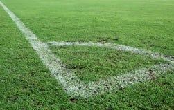 Groen gras, voetbalgebied Stock Afbeelding