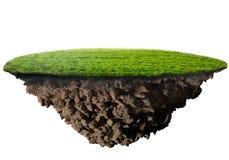 Groen graseiland Royalty-vrije Stock Fotografie